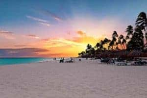 A sunset at Aruba
