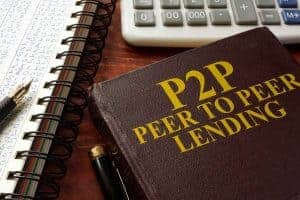 book with P2P peer to peer lending written on it