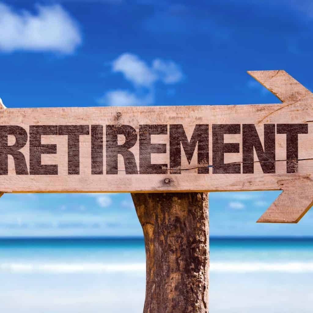 The word Retirement on a signpost