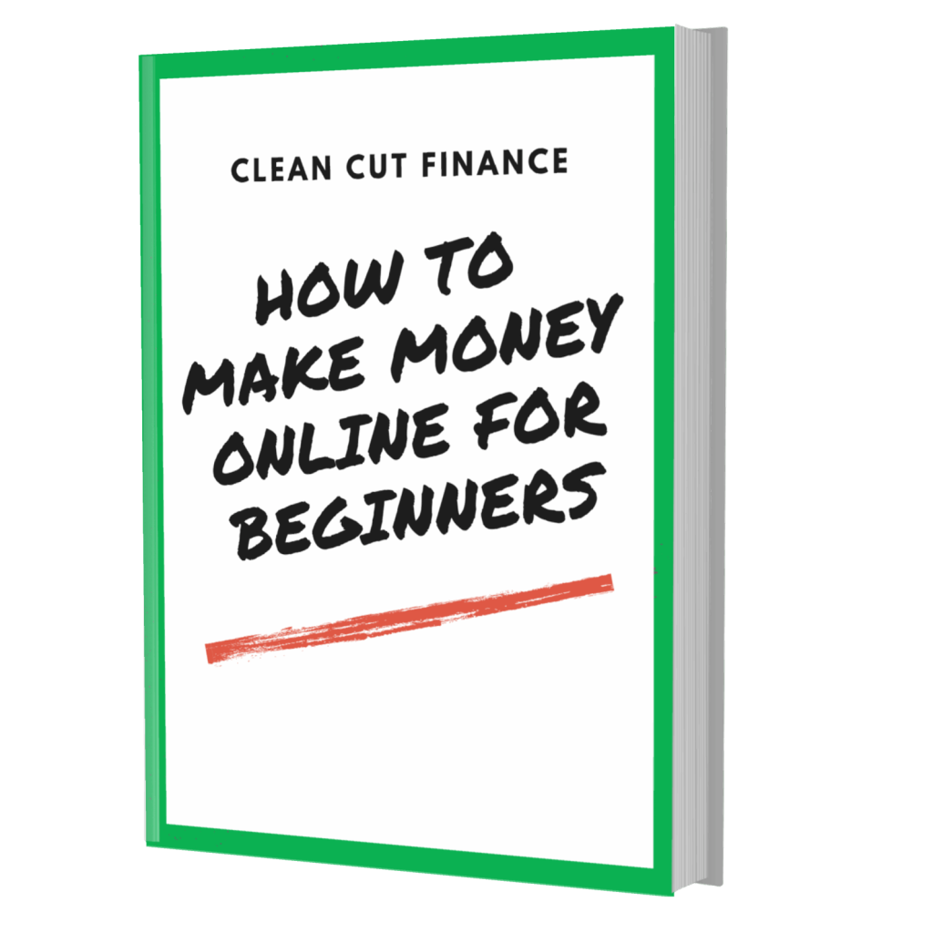 image of the front of a book that teaches people how to make money online for beginners