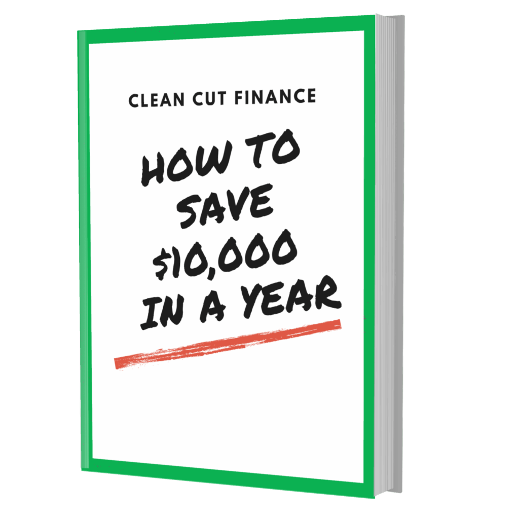 eBook cover for how to save $10,000 in a year article